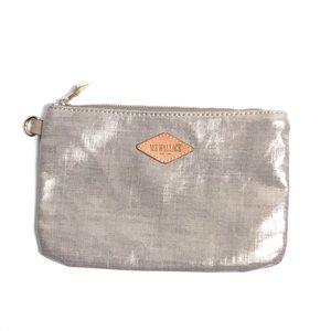 MZ WALLACE Coin Purse Pouch Small Makeup Bag Gold